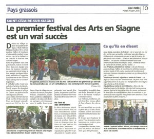 20150630 Festival des Arts - Nice Matin